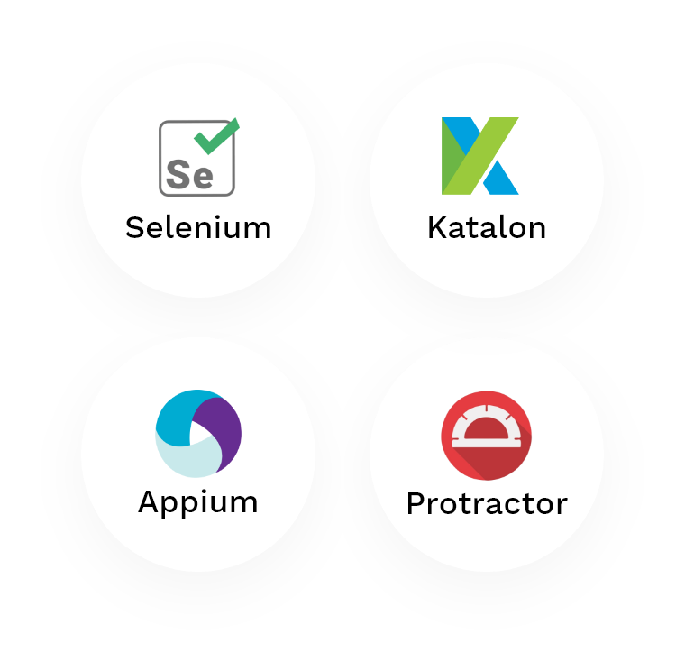 Our automation stack logos